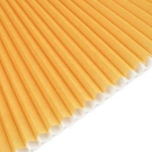honeycomb gul m.hvid bagside 0360